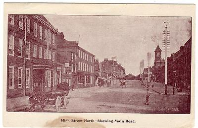 Early  DUNSTABLE  High Street North  Main Road  Bedford   Postcard