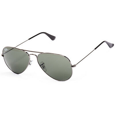 Ray-Ban Aviator Classic Sunglasses 58mm (Gunmetal / Green Classic G-15)