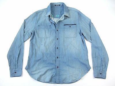 f4bd6492 CHIP FOSTER CF Plaid Check Blue Green Large Woven Button Down Shirt ...