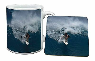 Surf Board Surfing - Water Sports Mug+Coaster Christmas/Birthday Gift , SPO-S3MC