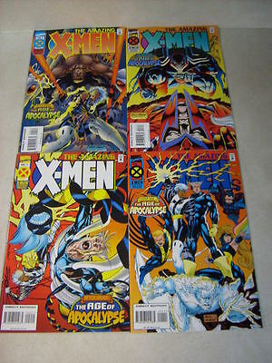 Amazing X-Men #1, 2, 3, 4 Full Set, Nicieza, Kubert, Nm+ 1995 Age Of Apocalypse