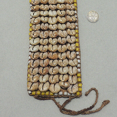 old bracelet decorated with cowrie shells used as currency kuba congo #60