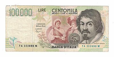 1994 Italy 100000 Lira Cuhaj 117 circulation note
