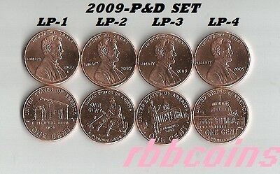Complete Set Of 2009-P&d Bu Lincoln Bicentennial Cents - $2.95 Max Shipping