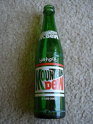 MOUNTAIN DEW 10 oz Painted BOTTLE Soda pop Ya-Hoo 1960 a BEAUTY ! GREAT DISPLAY!