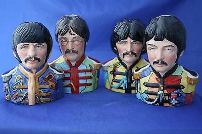 Bairstow Manor Beatles Legends Of Rock & Roll Character Jugs - Full Set - New
