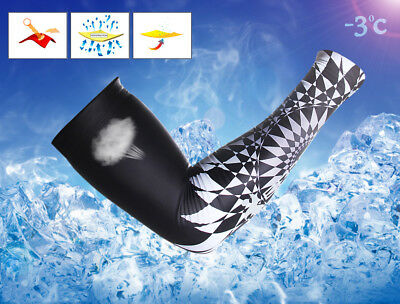 Waterfly Cool Outdoor Sport Arm Sleeve Warmer Cycling UV Sun Protection Cover
