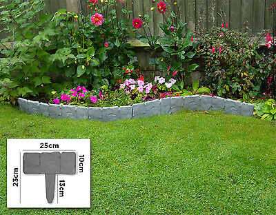2.5m Woodside Border Fencing Panels Garden Flowerbed/Pathway/Lawn Edging