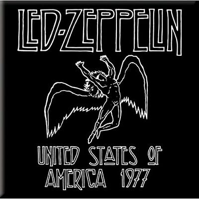 Official LED ZEPPELIN USA 1977 Fridge Magnet Robert Plant Jimmy Page