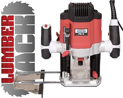 "Lumberjack PR14 1200W 1/4"" Variable Speed Router 240v Parallel Fence + 3..."