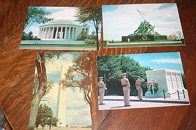 Lot of 4 Large 6 x 9 Washington DC Postcards - Tomb of Unknown Soldier, USMC +