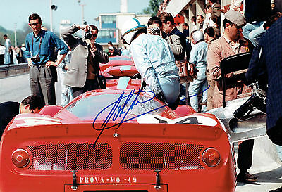 John Surtees SIGNED World Champion FERRARI 12x8 Photo AFTAL Autograph COA