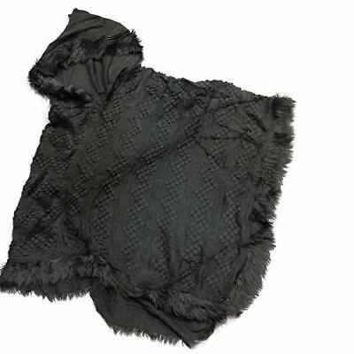 The Good Bead Coco & Carmen Hooded Pull Over Knit Poncho - Steel Grey