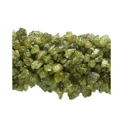 Long Strand Of 200+ Green Peridot 5-8mm Chip Beads FM8993