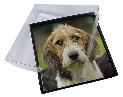 4x Welsh Fox Terrier Dog Picture Table Coasters Set in Gift Box, AD-FT4C