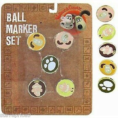 Wallace And Gromit Golf Ball Marker Set.