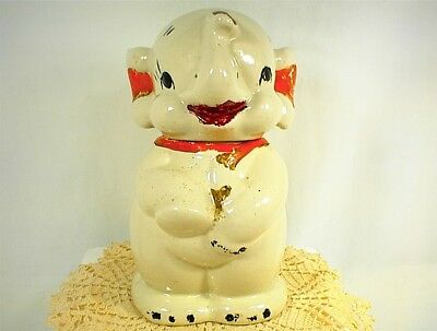 Vintage Cookie Jar Elephant