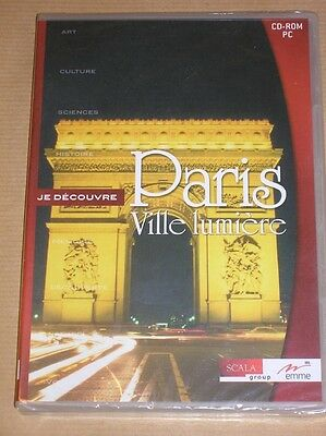 Cd-Rom Pc / Je Decouvre Paris Ville Lumiere / Neuf Sous Cello