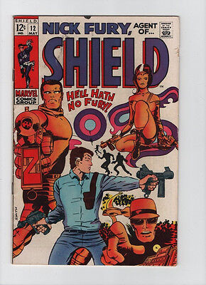 Nick Fury Agent Of SHIELD #12 - Hell Hath No Fury! - 1969 (Grade 4.5) WH