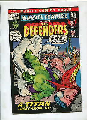 Marvel Feature #3 (8.0) 3Rd Appearance Of The Defenders! Defenders Ends