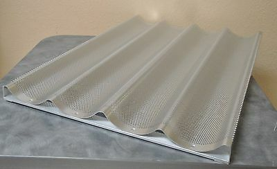 "4 Mold Baguette or French Bread Pan Aluminum 18"" x 26"""