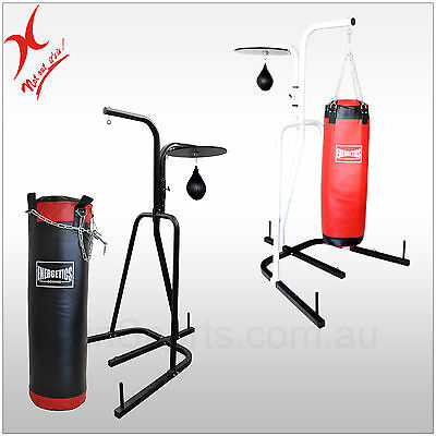 2-Way Boxing Stand + 40Kg Boxing Punching Bag + Speed Ball - Boxing Rack