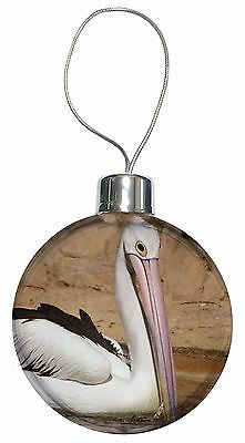 Pelican Print Christmas Tree Bauble Decoration Gift, AB-68CB