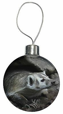Badger on Watch Christmas Tree Bauble Decoration Gift, ABA-2CB