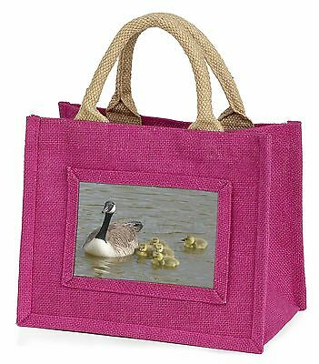Canadian Geese and Goslings Little Girls Small Pink Shopping Bag Chris, AB-G1BMP