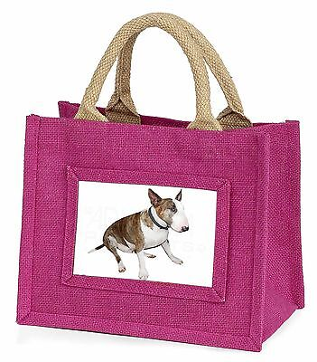 Brindle Bull Terrier Dog Little Girls Small Pink Shopping Bag Christ, AD-BUT5BMP