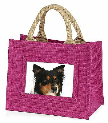 Tri-Colour Border Collie Dog Little Girls Small Pink Shopping Bag Ch, AD-CO33BMP