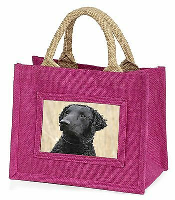 Curly Coat Retriever Dog Little Girls Small Pink Shopping Bag Christm, AD-CR1BMP
