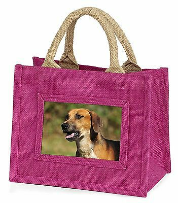 Foxhound Dog Little Girls Small Pink Shopping Bag Christmas Gift, AD-FH1BMP