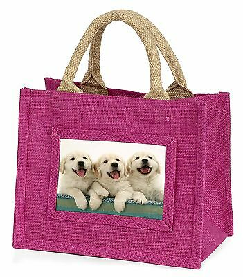Golden Retriever Puppies Little Girls Small Pink Shopping Bag Christ, AD-GR56BMP