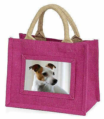 Jack Russell Terrier Dog Little Girls Small Pink Shopping Bag Christ, AD-JR54BMP