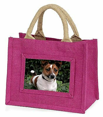 Jack Russell Terrier Dog Little Girls Small Pink Shopping Bag Christ, AD-JR55BMP