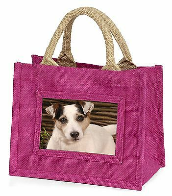 Jack Russell Terrier Dog Little Girls Small Pink Shopping Bag Christ, AD-JR56BMP