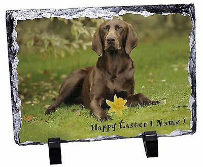 Personalised German Pointer Photo Slate Christmas Gift Ornament, AD-GSP1DA2SL
