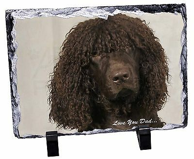 Irish Water Spaniel 'Love You Dad' Photo Slate Christmas Gift Ornament, DAD-59SL