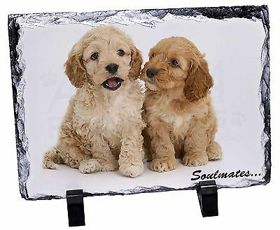 Cockerpoodle Puppy Dogs 'Soulmates' Photo Slate Christmas Gift Orname, SOUL-27SL