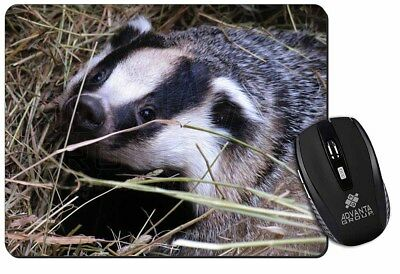 Badger in Straw Computer Mouse Mat Christmas Gift Idea, ABA-1M