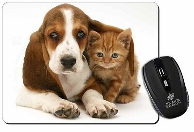 Basset Hound Dog and Cat Computer Mouse Mat Christmas Gift Idea, AD-BH1M