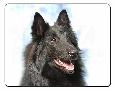 Black Belgian Shepherd Dog Computer Mouse Mat Christmas Gift Idea, AD-BS3M