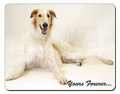 Borzoi Dog 'Yours Forever' Computer Mouse Mat Christmas Gift Idea, AD-BZ2M