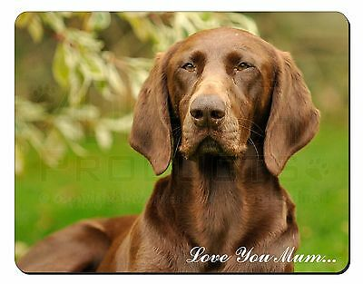 German Pointer Dog 'Love You Mum' Computer Mouse Mat Christmas Gift, AD-GSP1lymM
