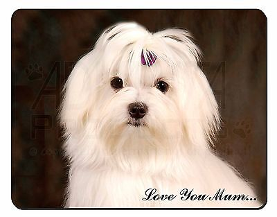 Maltese Dog 'Love You Mum' Computer Mouse Mat Christmas Gift Idea, AD-M1lymM