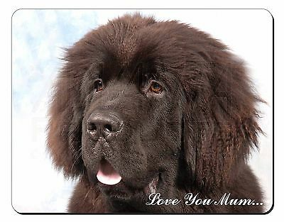 Newfoundland Dog 'Love You Mum' Computer Mouse Mat Christmas Gift Id, AD-NF3lymM