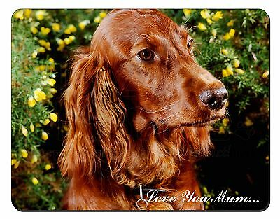 Irish Red Setter Dog 'Love You Mum' Computer Mouse Mat Christmas Gif, AD-RS1lymM