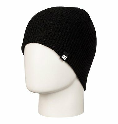 Dc Clap Mens Black Skate Snow Board Beanie Hat Cap One Size Fits All
