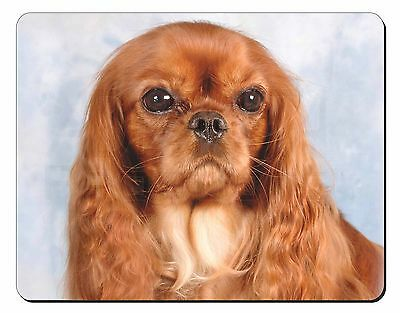 Ruby King Charles Spaniel Dog Computer Mouse Mat Christmas Gift Idea, AD-SKC3M